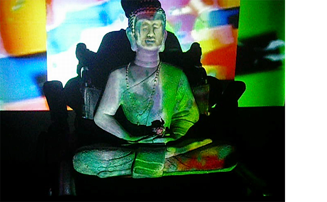 "Ricardo Peredo Wende, Paik is Video Buddha, 2018, Single channel video, Colour, Sound, Dimensions vary, 02'09"", 20 editions"