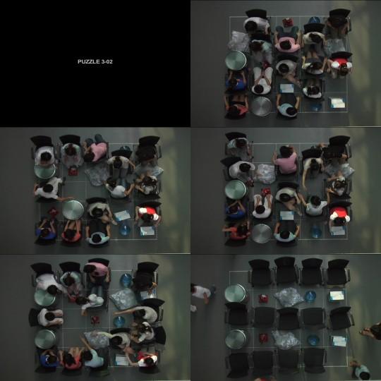 """Junebum Park, Puzzle 3-02, 2008. Single Channel, DV, 01'50"""", 01'00"""", Sound, Colour"""
