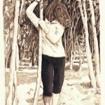 Sohelia Sokhanvari, Spirit of the Woods, 2010. Iranian crude oil on paper, 21 x 30 cm.