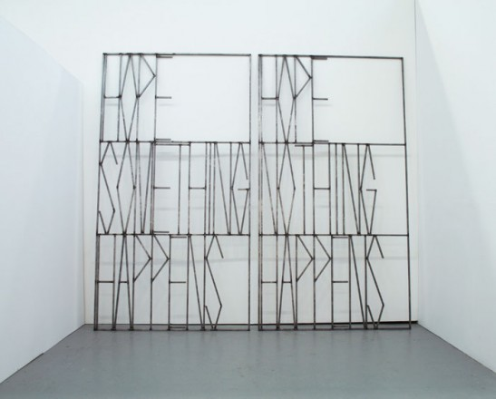 Gates of the world, 2011. Steel, 275 x 150 x 2 cm