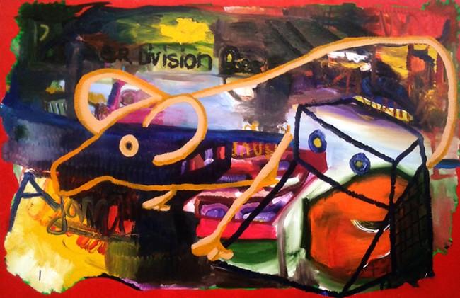 "Leonard Johansson, ""Adam"", 2014, Oil on Canvas, 160 x 250 cm"