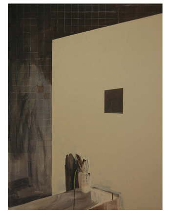 Eun Sook Choi, A Dynamic Window, 2012. Oil on Canvas, 40.2 x 29.9 x 1.2 in