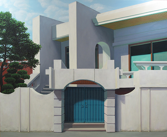 29(house,blue door,Seogyodng,Seoul),180 x 220 cm, 2012-13
