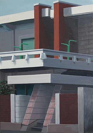 "Ingo Baumgarten, ""Untitled (parallel structures,Seogyodong, Seoul)"", 2012-2013, Oil on canvas, 41 x 60 cm."