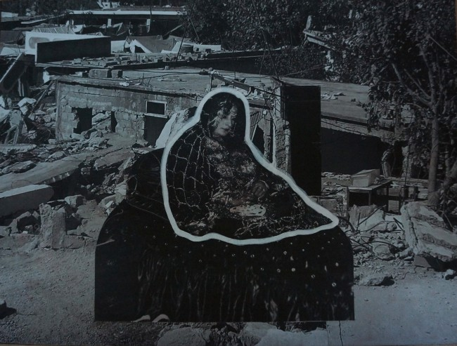 "Aisha Abid Hussain, ""Love is a Wasted Vigil Series II"", 2015, Inkjet print collage on Wasli paper, 25 x 36 cm"