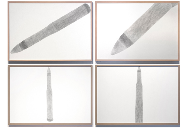 SinSinSoft, Bigger than Life, 2017, Pencil on paper, 54 x 78 cm each