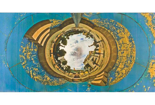 Do Yang Zu, Celestial 12, 2013, Gum bichromate on Fabriano Artistico, 90 x 180 cm