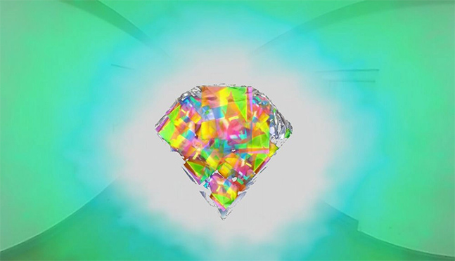 "Ricardo Peredo Wende, Shiny Stone, 2018, Single channel video, Colour, Sound, Dimensions vary, 02'27"", 20 editions"