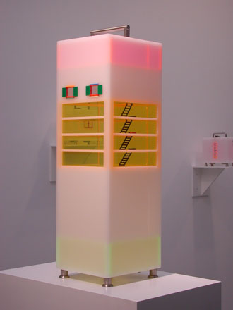 Jaye-Moon,-Staircase-I,-Lego,-Plexiglas-&-Stainless-Steel,71-x-21x-20-cm,2007_resized