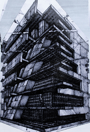 Joonhong Min, Urban Methodology, 2016, Pen on Paper, 21 x 29 x 1 cm