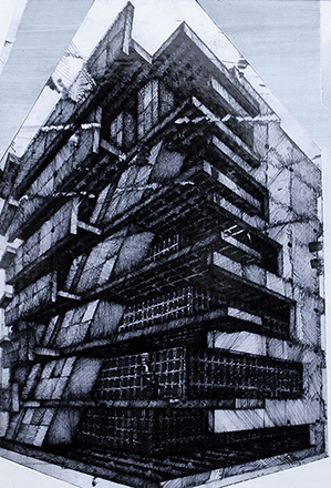 Joonhong Min, Urban Methodology,2016,Pen on Paper,21(W)x29(H)x1(D)cm