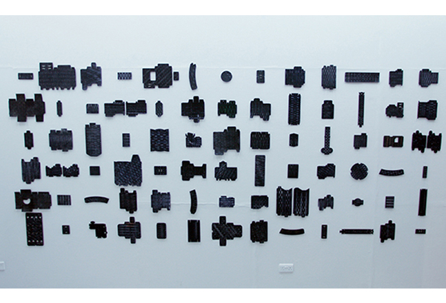 Joonhong Min, Urban Methodology9,2016, Pen on Waste Cardboards, Variable Size