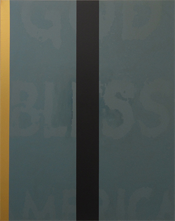 Simon Morley, God Bless America, 2017, acrylic on canvas, 120 x 96cm