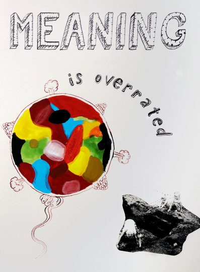 Ole Hagen, Meaning is Overrated 2017, ink, acrylic, collage, paper, approx. 29x42cm