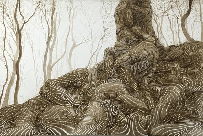 Hyojung Kim, Flourish, Acrylic on Canvas, 145.5x97cm, 2015