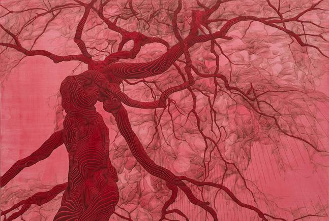 Hyojung Kim, Unseasonable Blooming, Acrylic on Canvas, 130.3x80cm, 2014