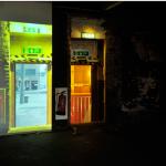 "Shin Kiwoun, ""Reality Test_Doors #1"", 2012, 2-channel video installation."