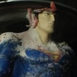 "Shin Kiwoun, ""Superman"", 2009, 2-channel video installation, full HD H.264 codec."