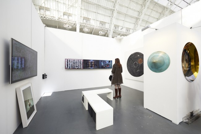 Yingmei Duan, Junebum Park, and Sungfeel Yun at Art14.
