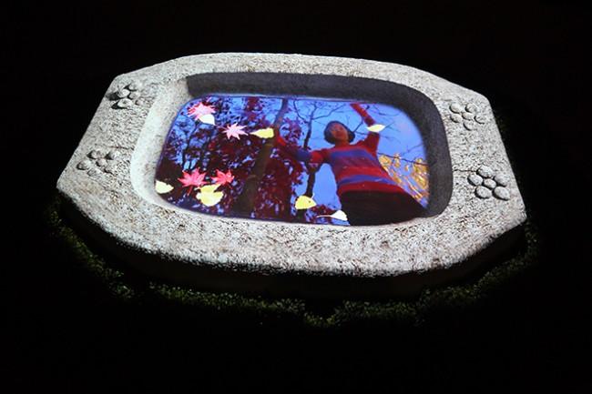"""Chang Kyum Kim, """"Watershadow, Four Seasons, 2"""", 2013-14. Video Installation, approx 14 mins, 110 x 29 x 20 cm."""
