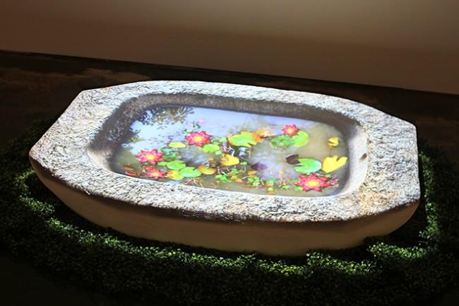 """Chang Kyum Kim, """"Watershadow, Four Seasons, 1"""", 2006-07. Video Installation, approx 14 mins, 110 x 29 x 20 cm."""