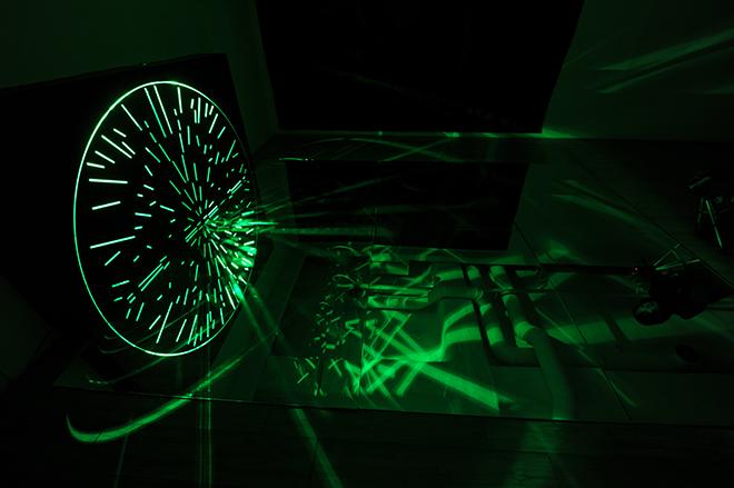 Hyekyung Cho, The Monad, mirror, fomax, LED installation work, 2010