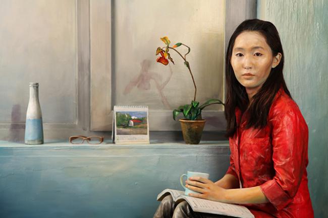 "Hyun Mi Yoo, ""Ahra posed for 10 minutes"", 2010, Installation, Photography, 1500 x 1200 cm."